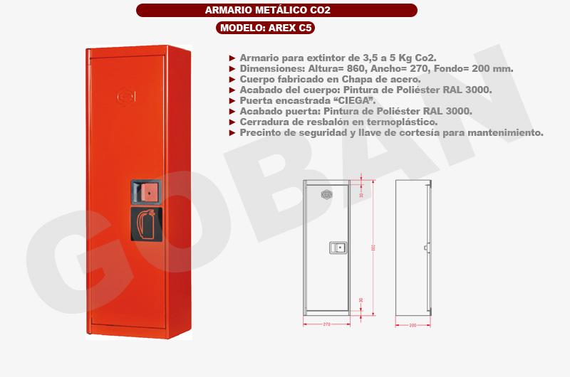 Armarios para extintores de metal