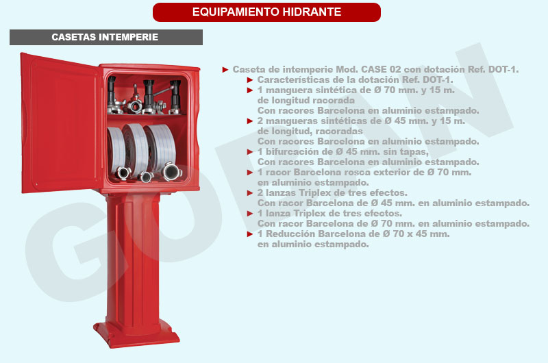 Caseta per guardar l´equipament d´hidrants
