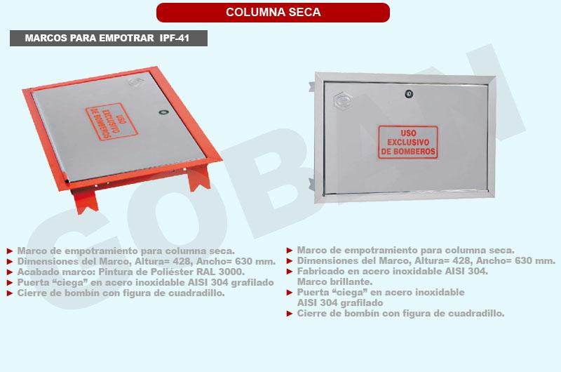 2 marcos de empotramiento IPF-41 de 428mm x 630mm
