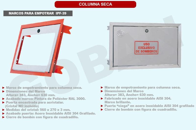 2 marcos para empotramiento de columna seca de 383x630