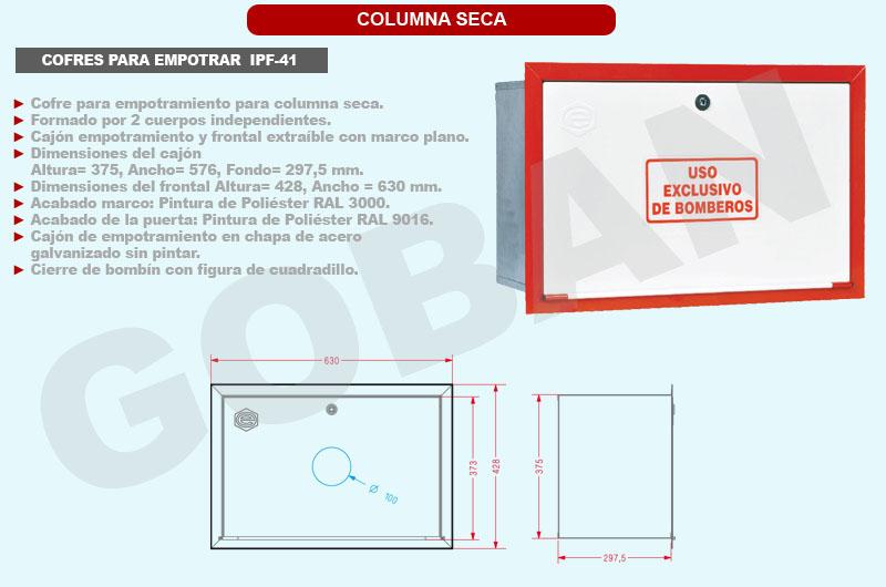 Cofre para empotrar IPF-41 de 375 x 576 x 297