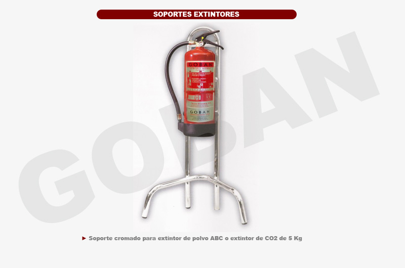 Soporte cromado para extintores de 5kg