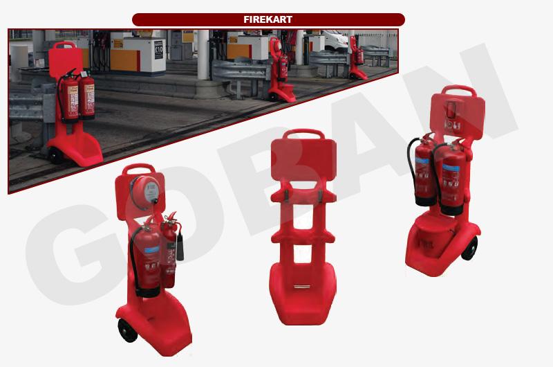 Firekart, soportes con ruedas para que puedas mover los extintores sin esfuerzo