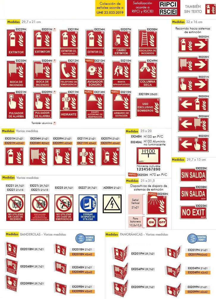 Senyals UNE per a equips anti incendis 1